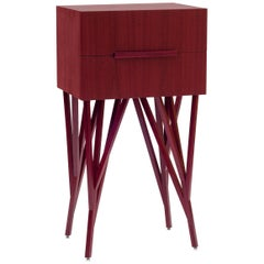Guaimbê Commode in Purpleheart Wood Veneer, Handcrafted in Brazil