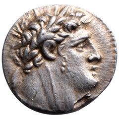 Ancient Jewish Silver Temple Tax Shekel of Tyre, 103 BC