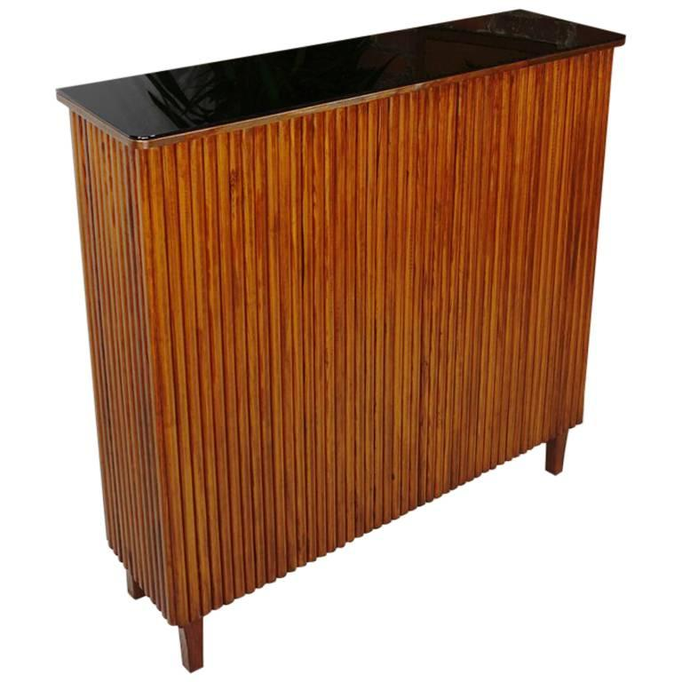 French Design Wooden and Mirrors Bar of the 1960s