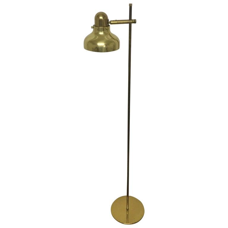 Mid - Century Brass Floor Lamp, Germany, circa 1960s