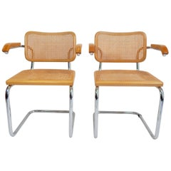 Pair of Marcel Breuer Cesca Chairs, 1970s