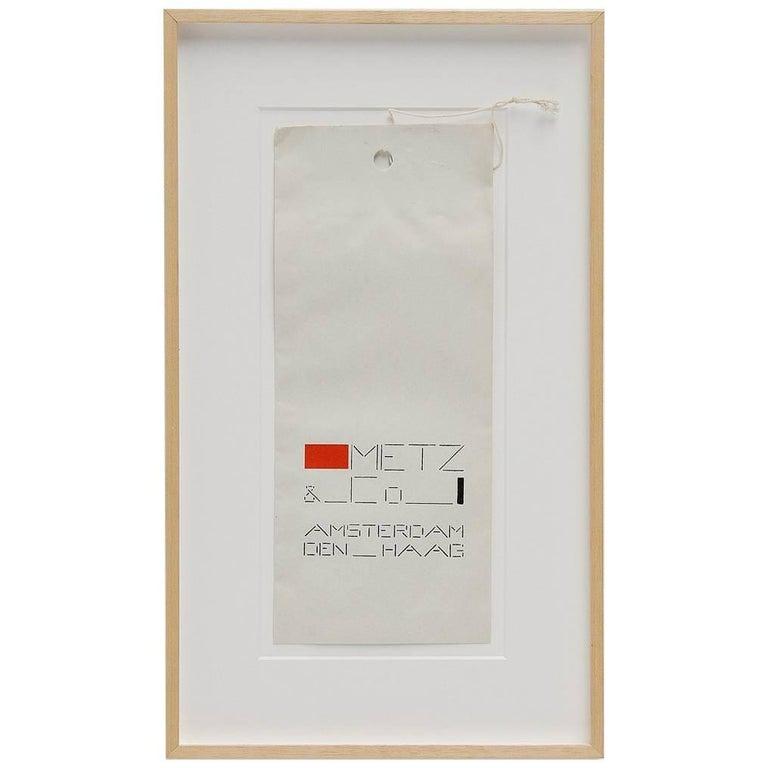 Bart van der Leck Packaging Bag Metz & Co Holland, 1935 For Sale