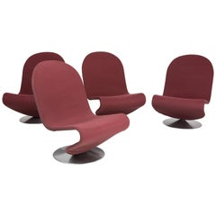 Set of Four Verner Panton 1 2 3 Serie for Fritz Hansen