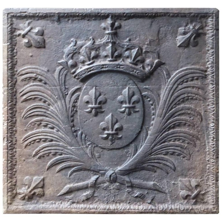 17th-18th Century French 'Arms of France' Fireback