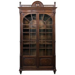 19th Century French Louis XVI Walnut Bookcase