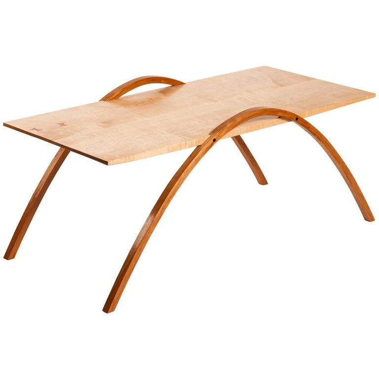 Wood Coffee Table by Fred Rossi For Sale