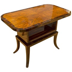Macassar Ebony and Walnut Coffee Table, 1930s, Central Europe