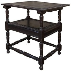 19th Century Convertible Monk's Chair or End Table
