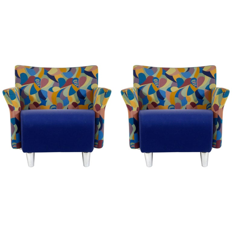 Erik Jørgensen Pair of Postmodern Lounge Chairs