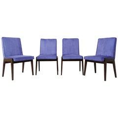 Set of Four 20th Century Mini Aga Pantone Ultra Violet Chairs, 1960s