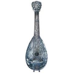 Dutch Baroque Style Silver Mandolin Flask Perfumer
