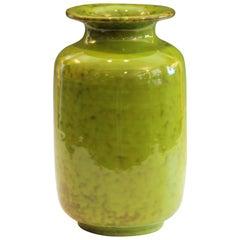 Vintage Italian Art Pottery Bright Kelly Lime Green Italica Ars Raymor PV Vase