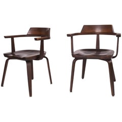 Rare Pair of Bauhaus W199 Chairs by Walter Gropius