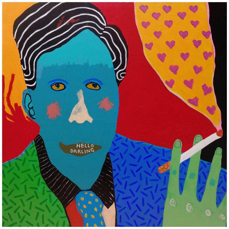 'Sweet Talk' Portrait Painting by Alan Fears Pop Art Design
