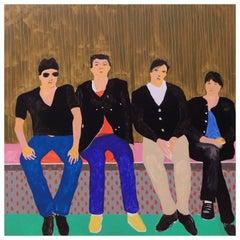 'Talking Heads' Portrait Painting by Alan Fears Pop Art Band
