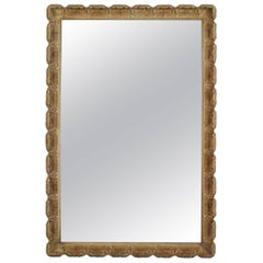 Italian Venetian Style, 1950s Gilt and Cream Frame Wall Mirror