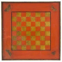 Vibrant Painted Game Board, circa 1900
