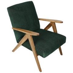 Mid-Century Modern Dark Green Armchair, 1960s