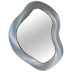 Modern Biomorphic Abstract Wall Mirror