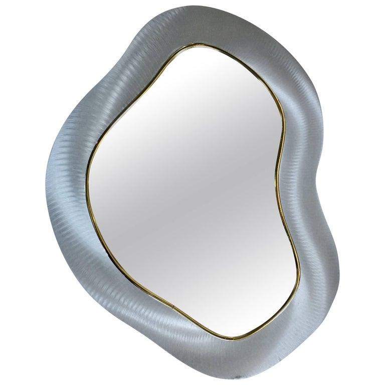 Modern Biomorphic Abstract Wall Mirror
