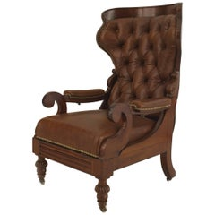 English Victorian Reclining Adjustable Armchair