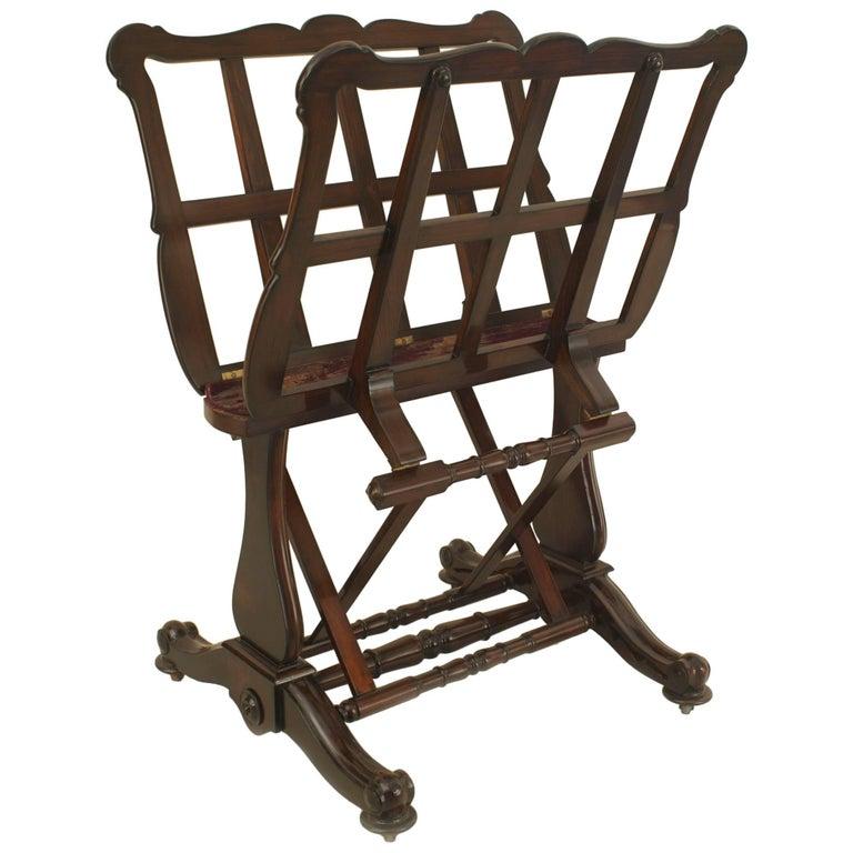 English Victorian Mahogany Portfolio Stand