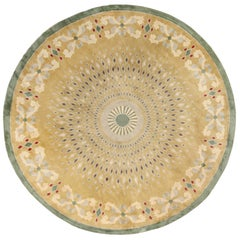 Antique Round French Art Deco Rug by Leleu