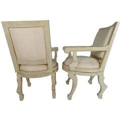 Pair of John Dickinson-Style Swivel Armchairs