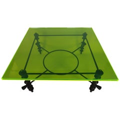 Jupiter Green Acrylic Coffee Table