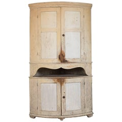 18th Century Swedish Gustavian Corner Cupboard
