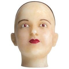 Wax Ladies Head, circa 1940