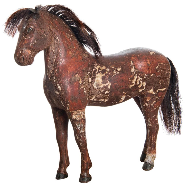 Swedish Wooden Horse from the Mid-1800s