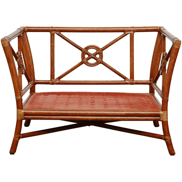 McGuire Rattan Target Design Lounge Chair