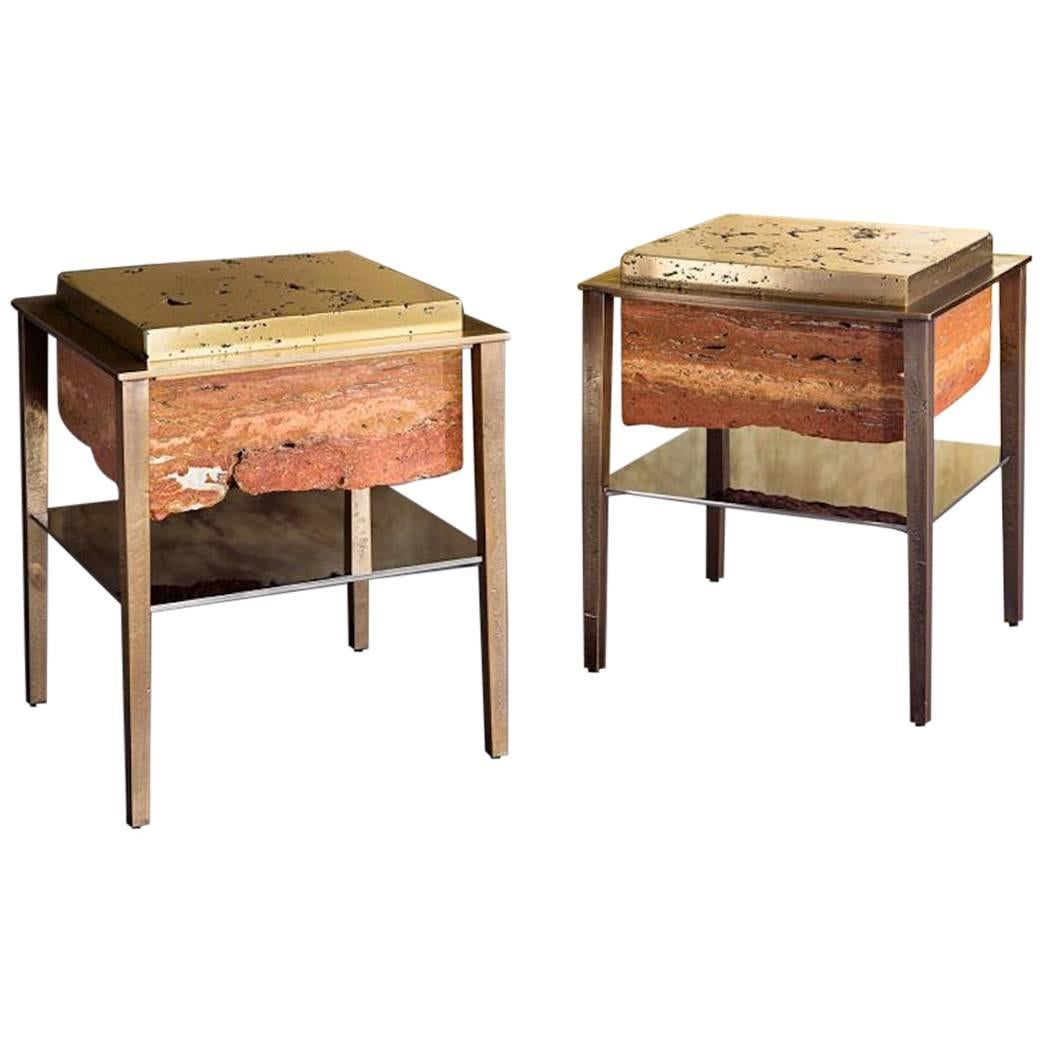 Cremino Side Table Handcrafted by Gianluca Pacchioni
