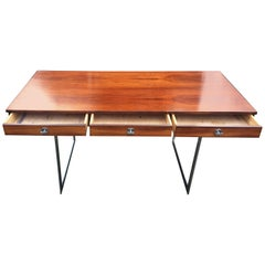 Large and Impressive Rosewood and Chrome Desk by Finn Juhl