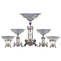 19th Century Elkington Garniture Set