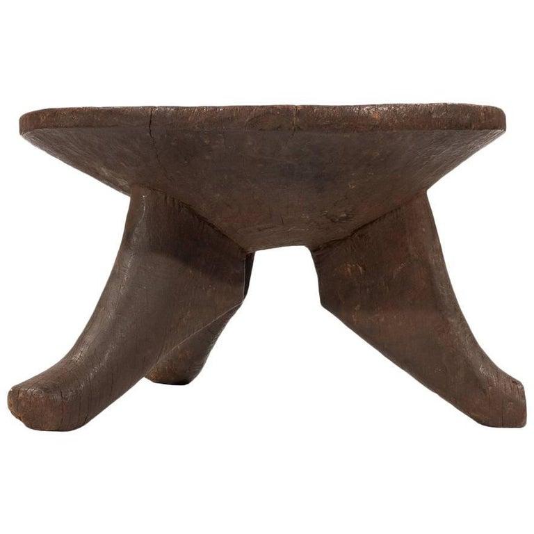Vintage African Wood Stool