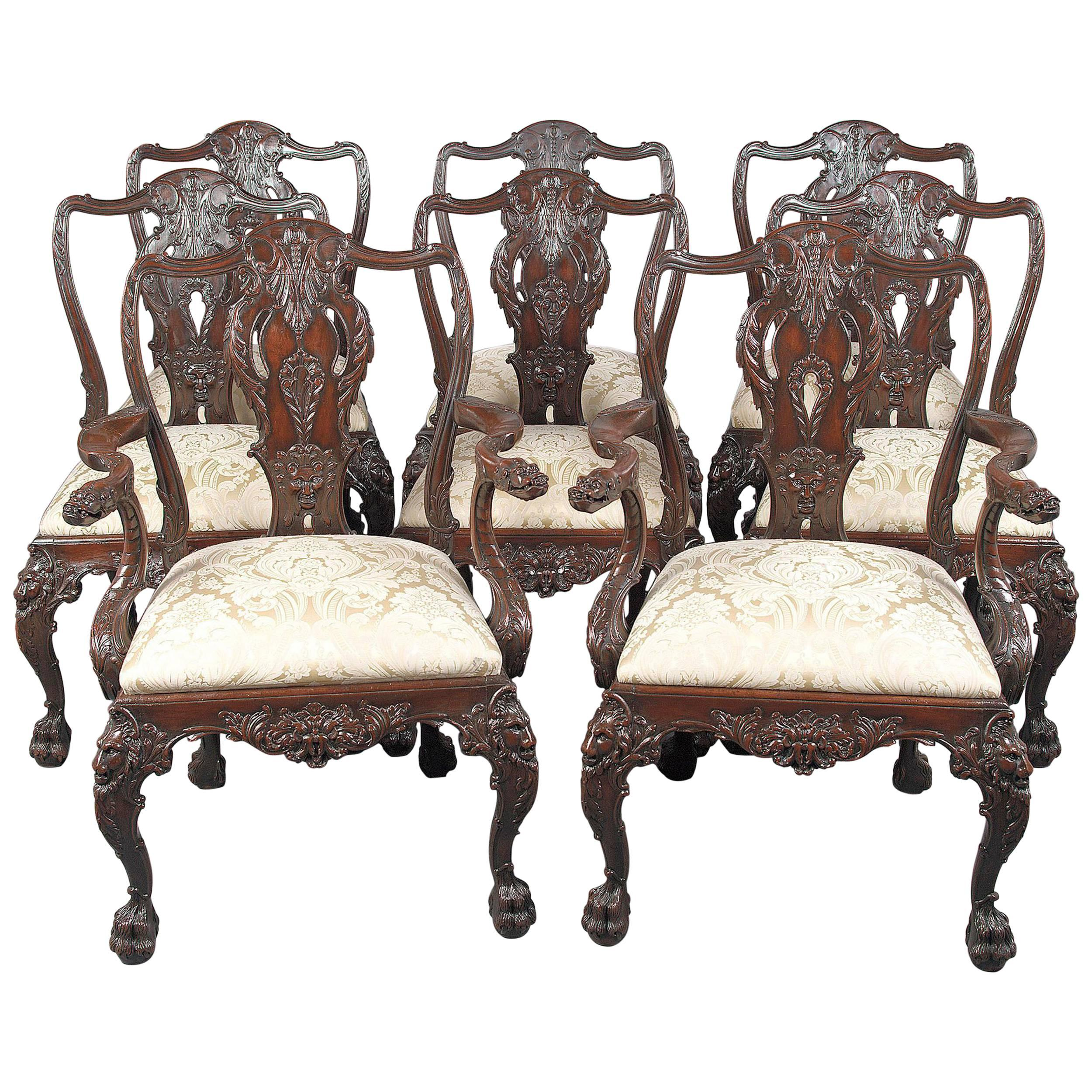 Set of Eight 19th Century English Dining Chairs