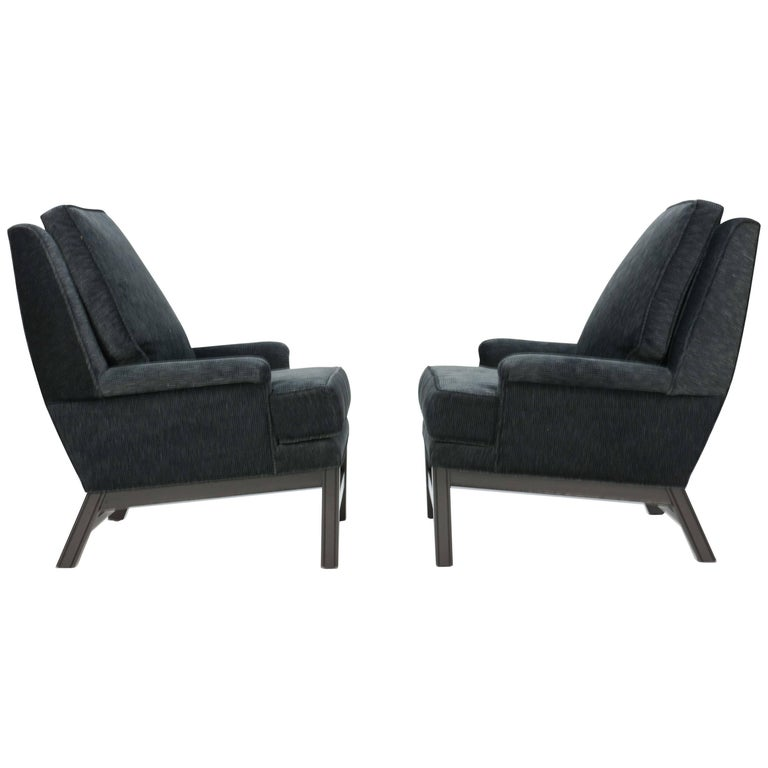 Incredible Pair of Midcentury Club Chairs Completely Redone For Sale