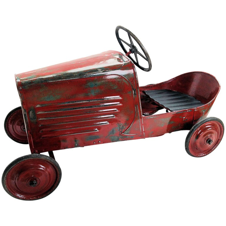1930s Antique French Child's Pedal Car