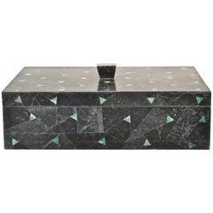 Tessellated Marble Lidded Box