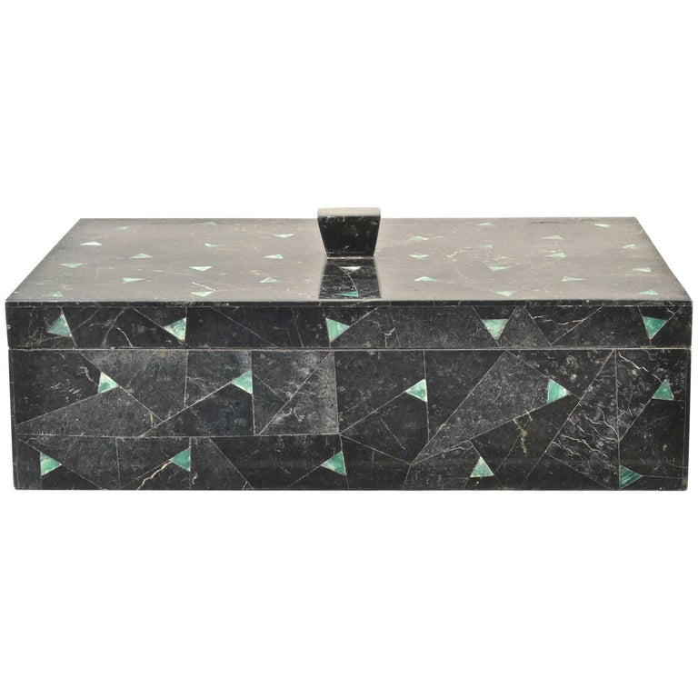 Tessellated Marble Lidded Box