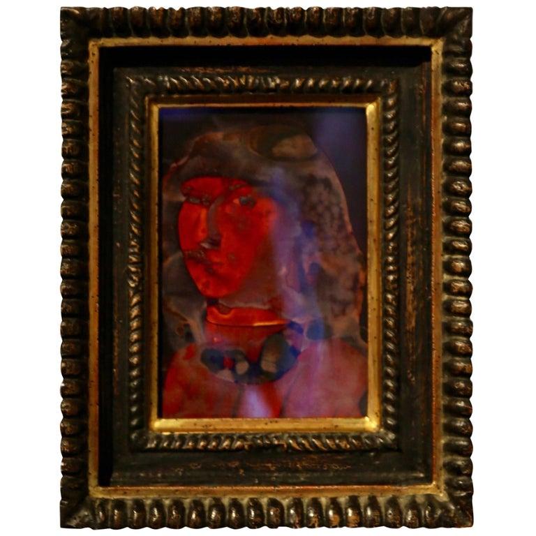 Black and Gilt Carved Wood Renaissance Frame