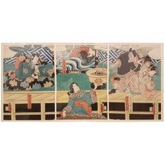 Utagawa Kunisada 'Toyokuni III', 1786-1684 Japanese Woodblock Print, 1852