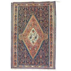 Antique Persian Senneh Kilim Flat-Weave Rug