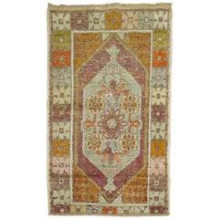 Vintage Turkish Anatolian Scatter Rug