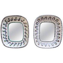 Pair of Wiener Keramik Austrian Mirrors