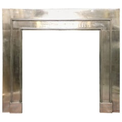 Period Regency Style Polished Steel Insert Fireplace Surround
