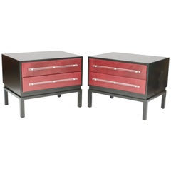 Wonderful and Handsome Pair of Monumental Night Stands after Paul Laszlo