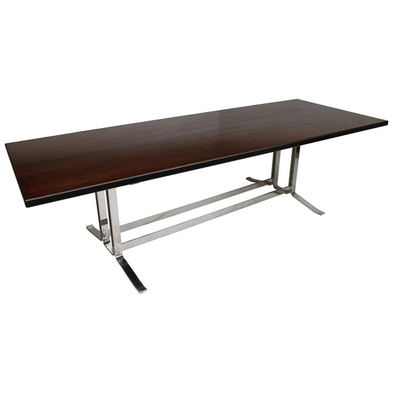 Mid-Century Italian Formanova rosewood Table by Gianni Moscatelli, circa 1965 For Sale